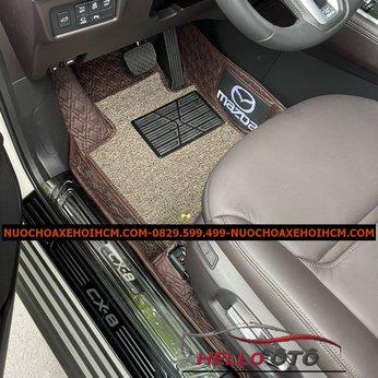 Thảm Lót Sàn 6D Mazda CX8 2020 Nâu Cacbon