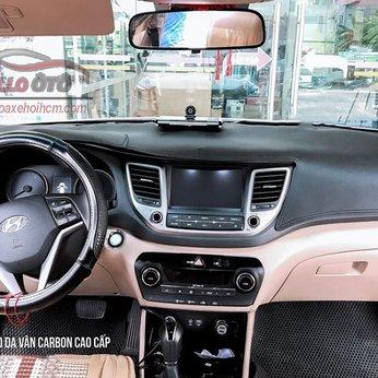Thảm Taplo Da Vân Cacbon Hyundai Tucson 2016