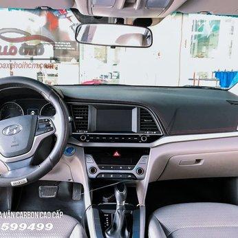 Thảm Taplo Da Vân Cacbon Hyundai Elantra 2019