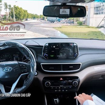 Thảm Taplo Da Vân Cacbon Hyundai Tucson 2019