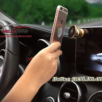 Giá đở điện thoại logo các hãng trên ô tô xoay 360 độ