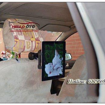 Giá đở máy tính bảng sau ghế ô tô xoay 360 độ