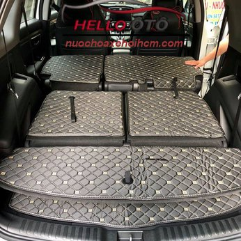 Lót Cốp Ô tô 6D Honda CRV 2018 Da Carbon