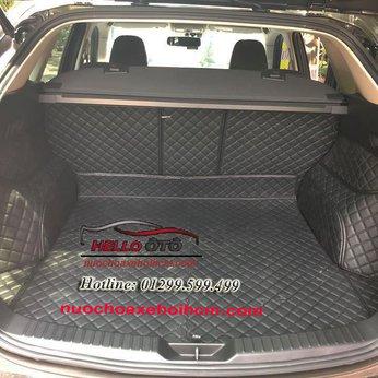 Lót Cốp Ô tô 6D Mazda CX5 2018 Da Đen Chỉ Đen