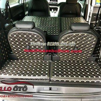 Lót Cốp Ô tô 6D Peugeot 5008 2018 Da Cacbon
