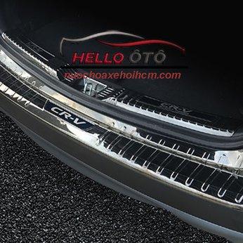 Nẹp Cốp Sau Chống Trầy Honda CRV 2018 Thép Titan Đen