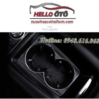 Ốp Học Để Ly Mazda 3 2018 Thép Titan Đen