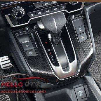 Ốp Mặt Cần Số Honda CRV 2018 Thép Titan Đen