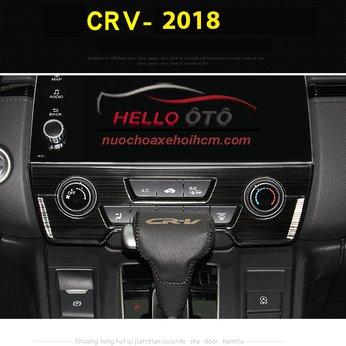Ốp Taplo Âm Thanh Honda CRV 2018 Thép Titan Đen