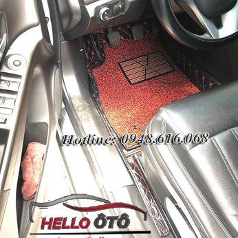 Thảm Lót Sàn Ô tô 6D Chevrolet Cruze 2018 Da Cacbon
