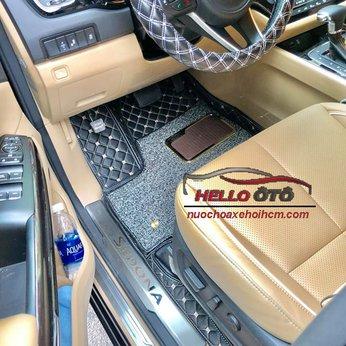 Thảm Lót Sàn Ô tô 6D Kia Sedona 2018 Da Carbon