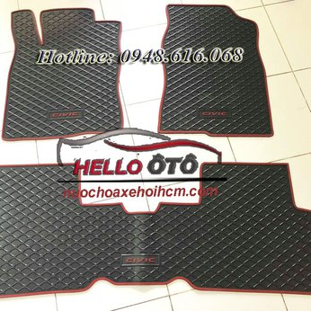 Thảm Lót Sàn Ô tô Cao Su 3D Honda Civic 2018