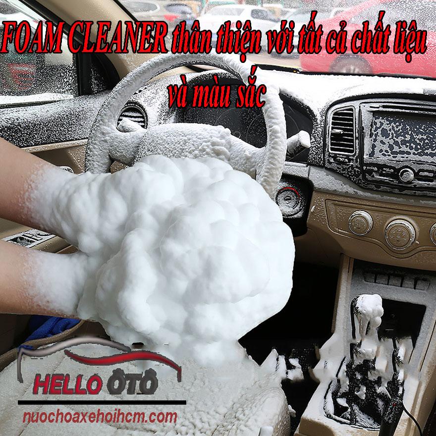 Vệ sinh dưỡng nội ngoại thất ô tô siêu sạch Foam Cleaner