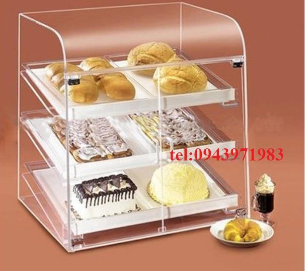 Khay đựng bánh bằng mica thể hiện tính thẩm mỹ cao