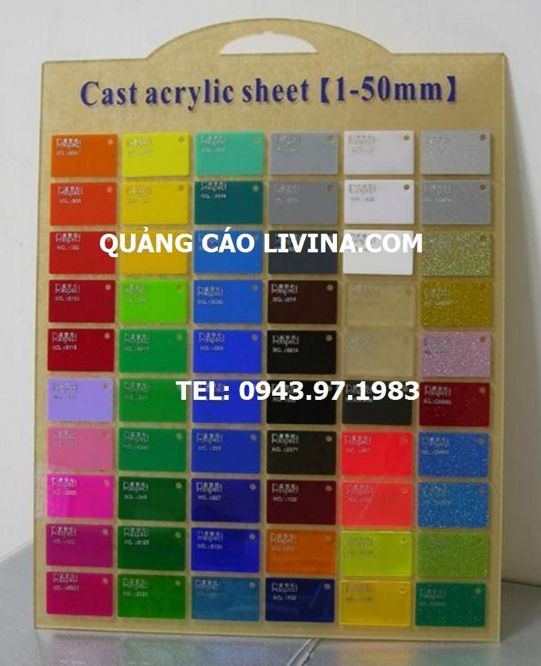 Mica tấm đủ màu sắc có sẵn bán sỉ và lẻ trên toàn quốc