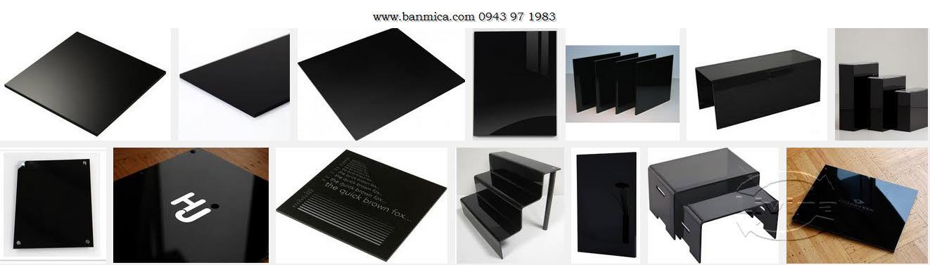 Mica đài loan 2mm Màu đen