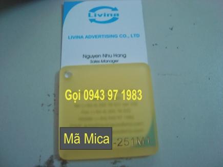 Mica Tấm màu vàng trong