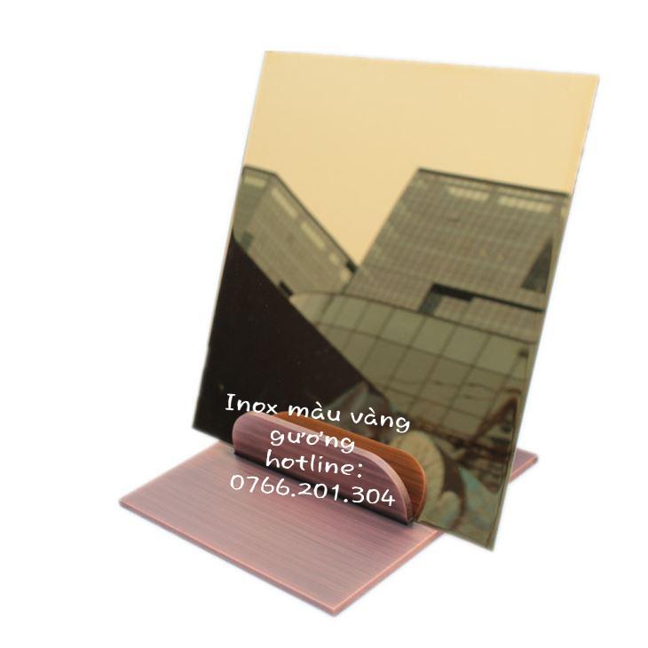 Tấm Inox vàng gương