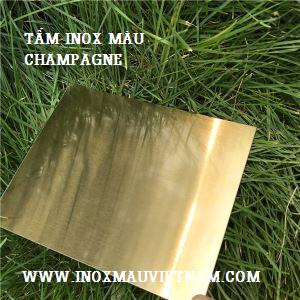 Tấm inox vàng champagne