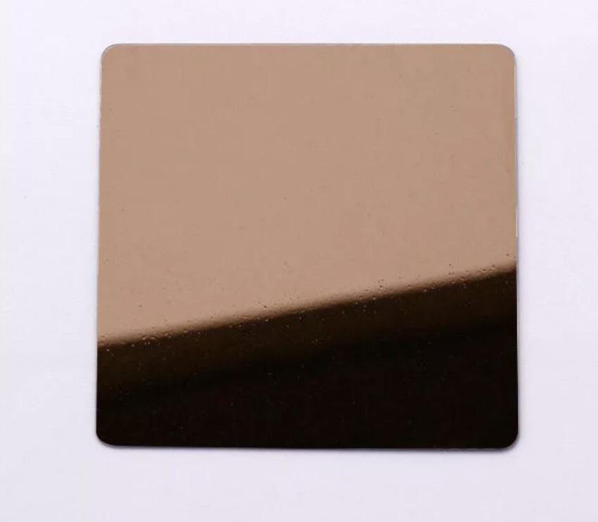 Tấm Inox màu đồng gương