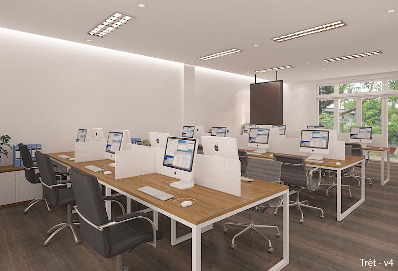 Thiết kế nội thất văn phòng Hoang Chau Plastic thành phố Bà Rịa