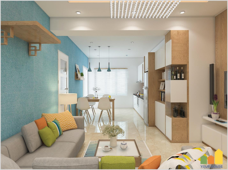 Thiết kế và thi công nội thất chung cư 60 m2 thành phố Ninh Bình