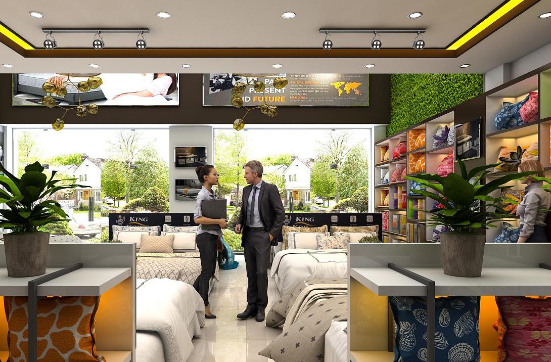 Thiết kế nội thất showroom đệm xinh – Trần Hưng Đạo