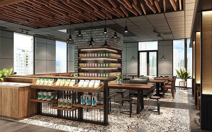 Thiết kế nội thất PHÚC LONG COFFEE & TEA HOUSE Hạ Long