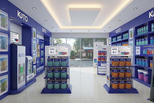 Thiết kế thi công nội thất showroom sơn Koto thị trấn Đông Anh