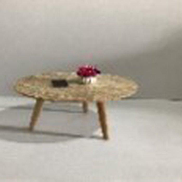 Bàn gỗ MDF 3 chân, kích thước 60 mặt giả đá