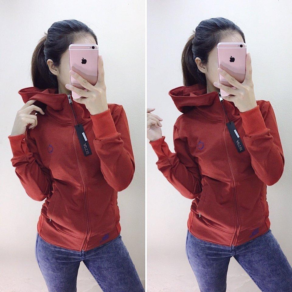 Áo khoác da cá táo đỏ