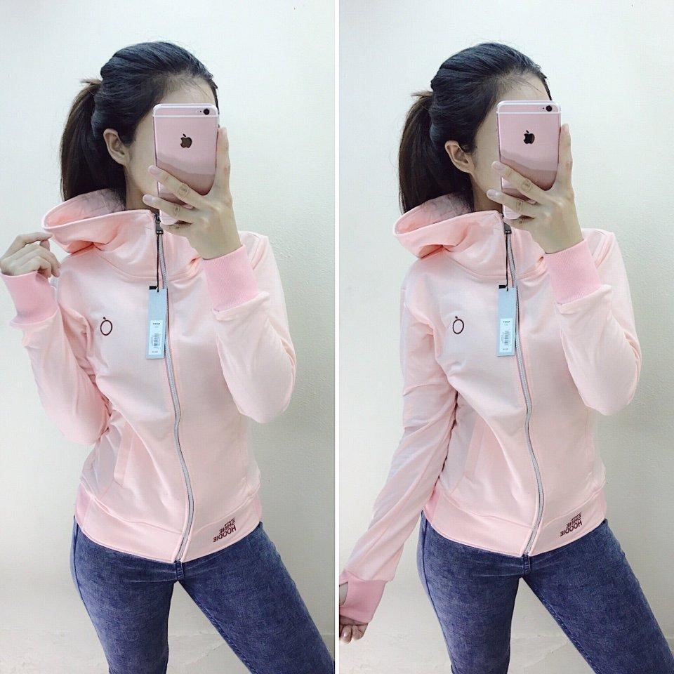 áo khoác da cá táo hồng