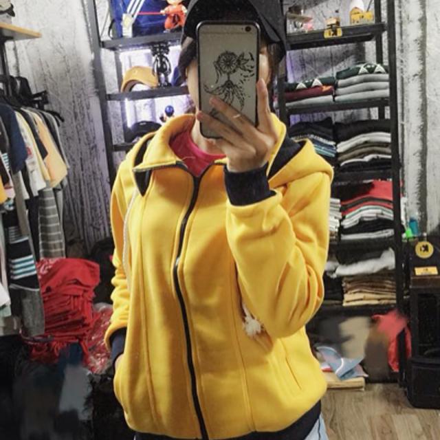 áo khoác nỉ mũ rộng