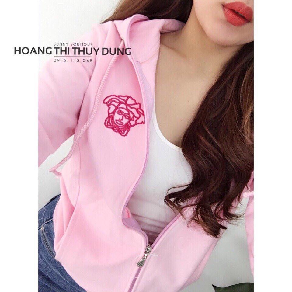 áo khoác nữ hoàng màu hồng phấn