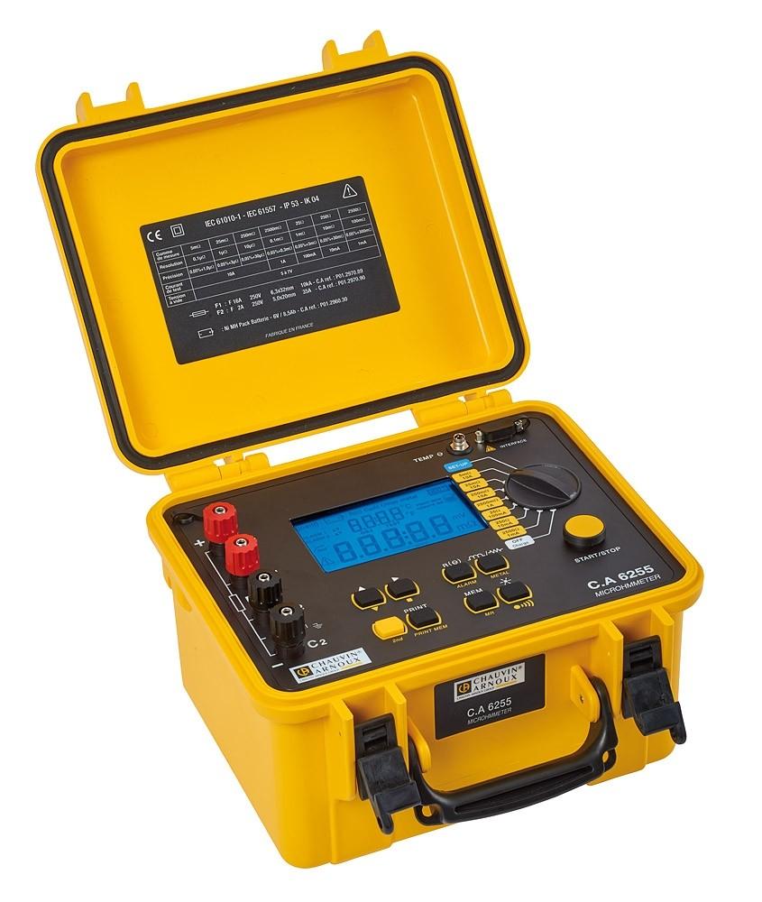Máy đo điện trở thấp Chauvin Arnoux C.A 6255