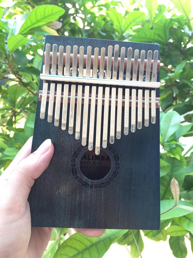 Đàn Kalimba 17 Phím Gỗ Mahogany Cổ Điển Xanh Đậm Hluru KaLinh