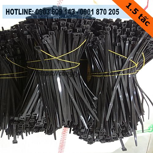 Dây rút nhựa màu đen 1.5 tấc