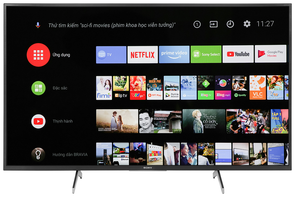 Android Tivi Sony 4K 55inch KD-55X7500H ( Mới 2020)