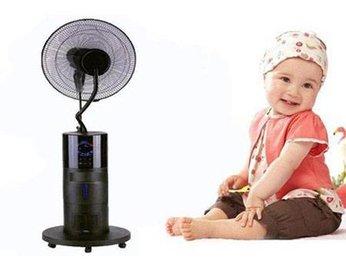 Cẩn thận khi dùng quạt phun sương trong phòng điều hoà có trẻ em