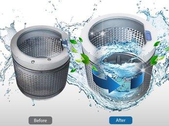 cực đơn giản với mẹo sử dụng chế độ vệ sinh lồng giặt trên máy giặt