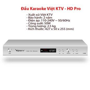 Đầu Karaoke ViệtK KTV - HD Pro