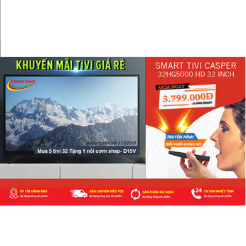 Android Tivi Casper 32 inch HD 32HG5000