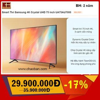 Smart TV Samsung 4K 75 inch 75AU7000 (UA75AU7000)