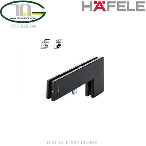 Kẹp kính góc L đen mờ HAFELE 981.00.033