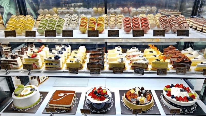 Nội thất cửa hàng bánh ngọt