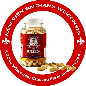 Sâm viên Baumann Wisconsin - 100% Wisconsin Ginseng Farm direct to You !