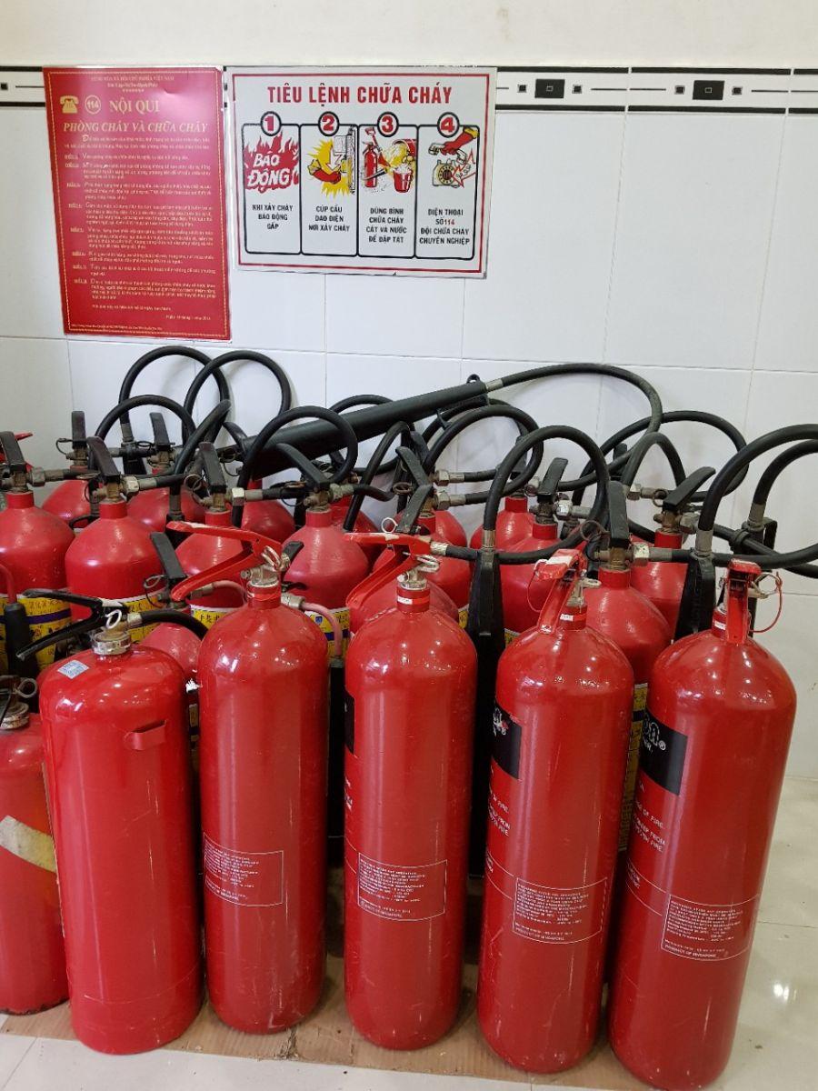 Nạp bình chữa cháy tại các khu công nghiệp tỉnh Tây Ninh