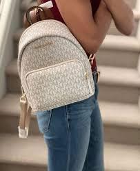 Balo Michael Kors Erin Small Vanilla Conv Backpack, balo Michael Kors chính hãng authentic, balo michael kors mini authentic size nhỏ màu trắnglogo