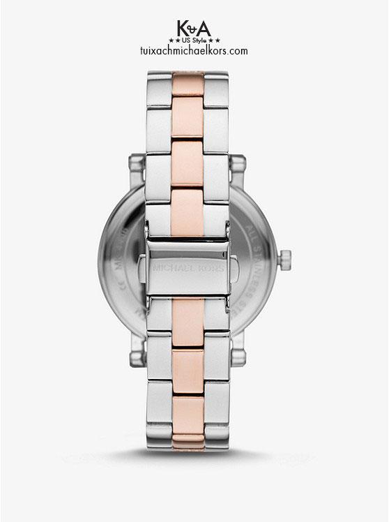 Đồng hồ Michael Kors nữ chính hãng USA Norie Pave Two Tone Watch