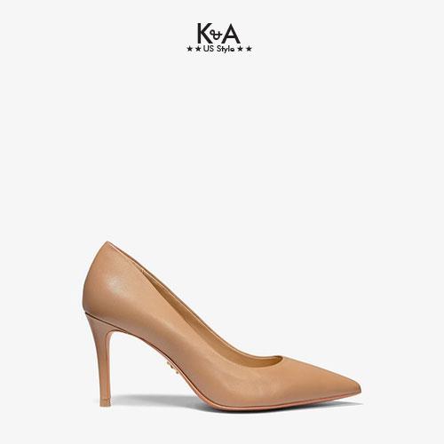 Giày cao gót Michael Kors nữ  KEKE MID PUMP LEATHER- TOFFEE